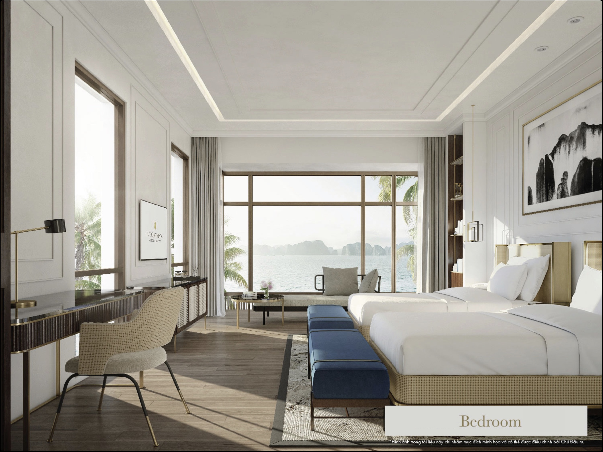 Nội thất cao cấp của căn villas intercon hạ long