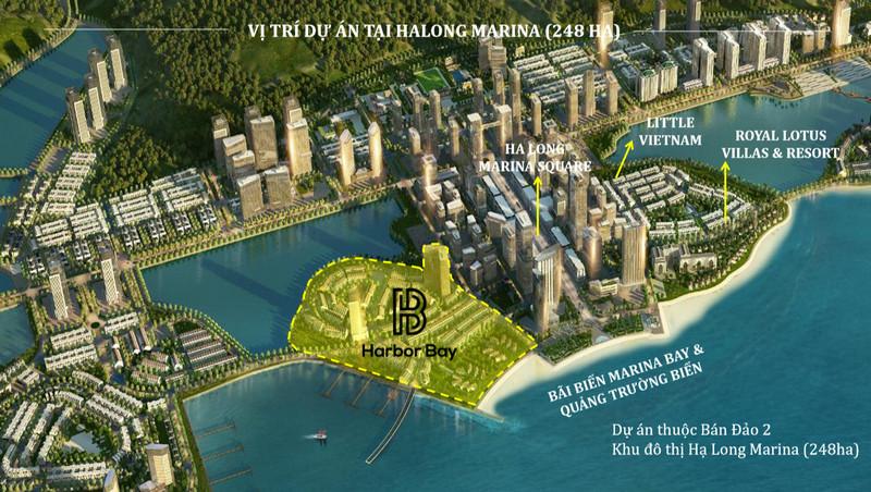 Vị trí dự án Harbor Bay Hạ Long Quảng Ninh