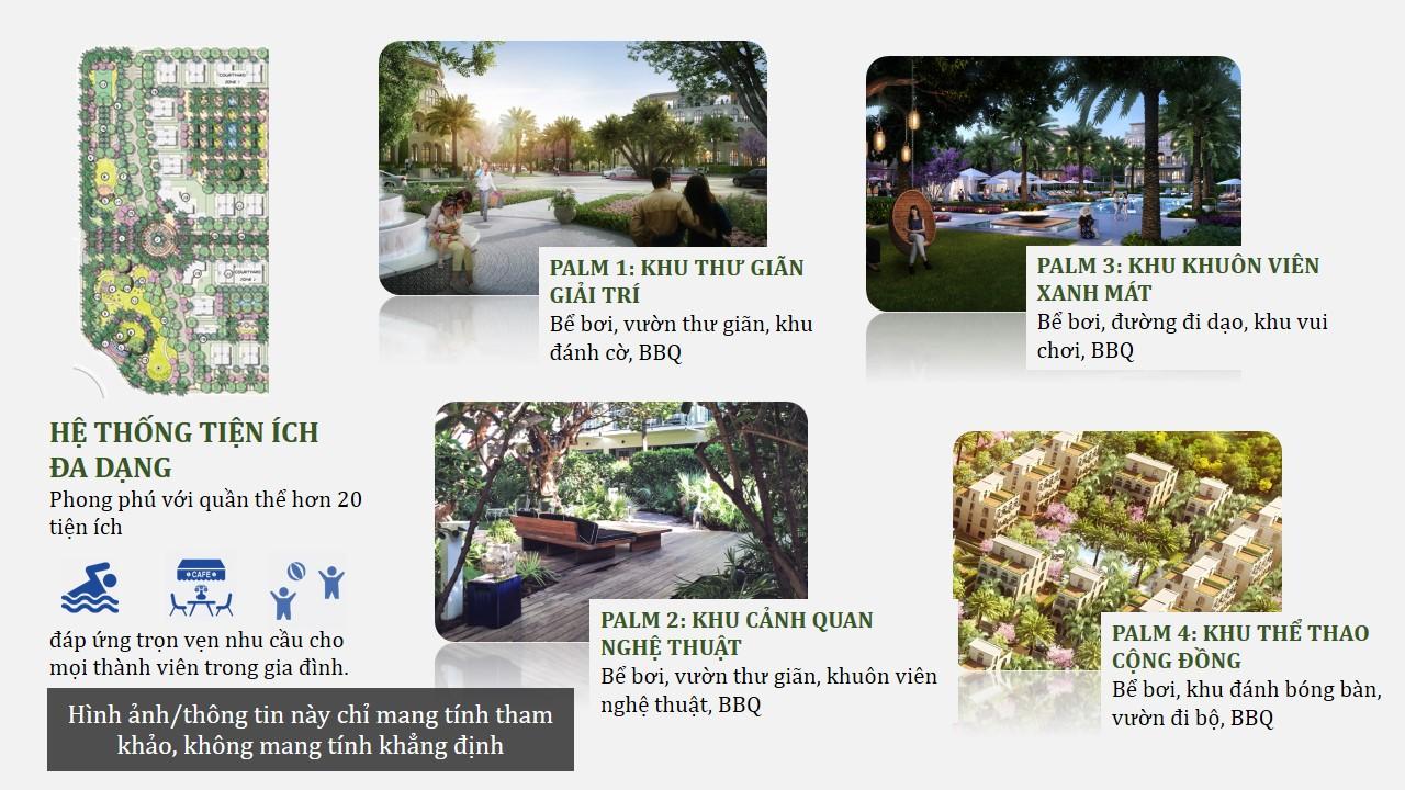 Tiện ịch shop villas Palm garden phú Quốc