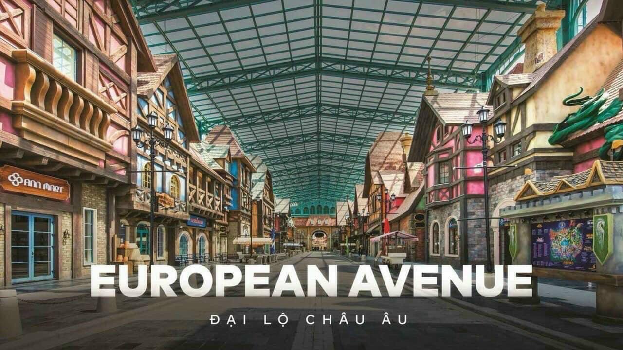 Phân khu đại lộ châu Âu của Shophouse Vinwonders