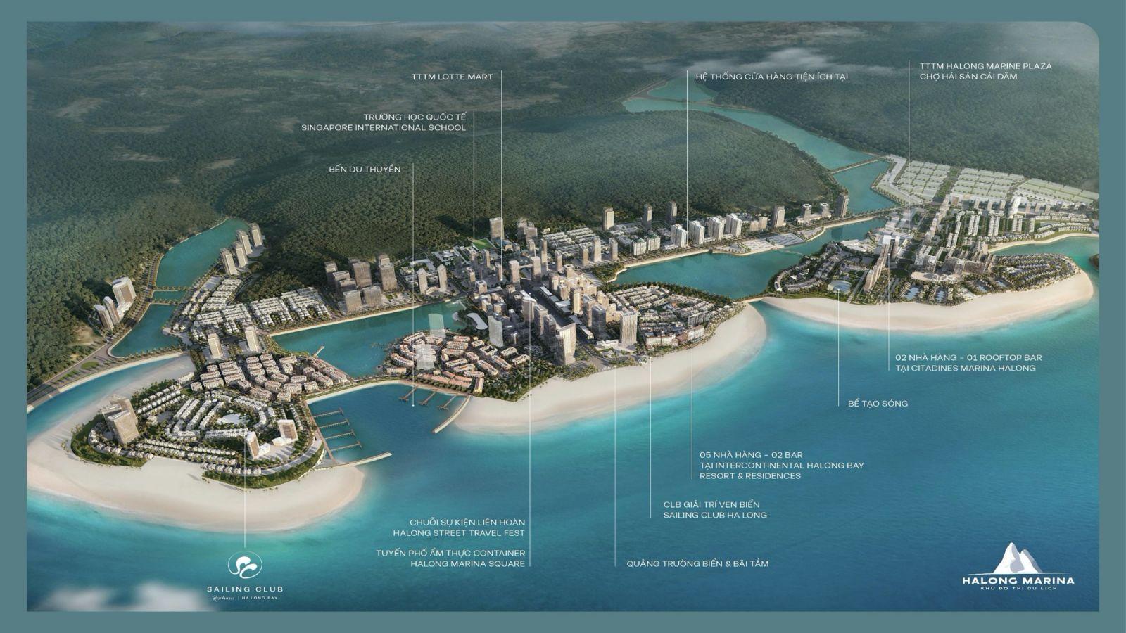 Vị trí dự án Sailing Club Residences Ha Long Bay